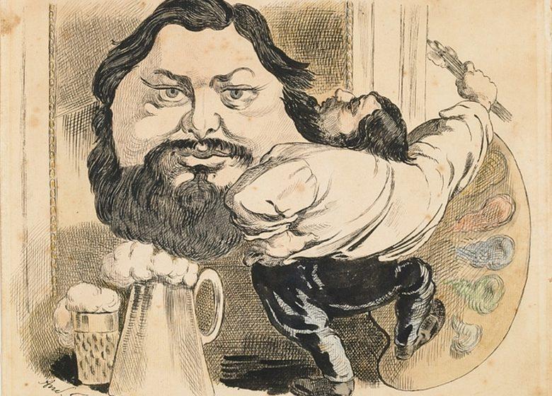 Courbet Caricaturé de la barbe aux sabots