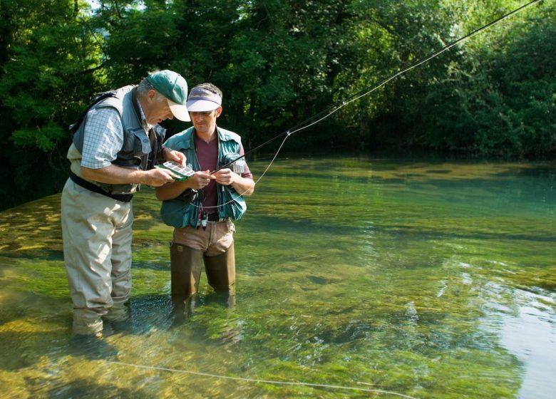 Stage de pêche à la mouche dans le Doubs
