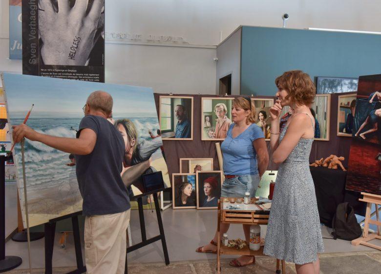 Salle d'exposition de la ferme familiale Courbet
